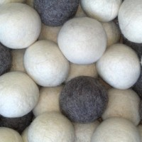 Grey Gray White Shep's Wool Dryer Balls