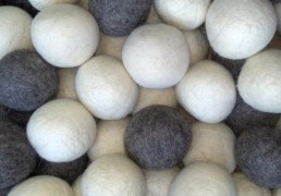 Grey Gray White Shep's Wool Dryer Balls